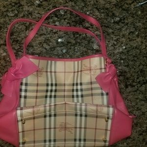 Burberry tote bag / purse - authentic, but damaged
